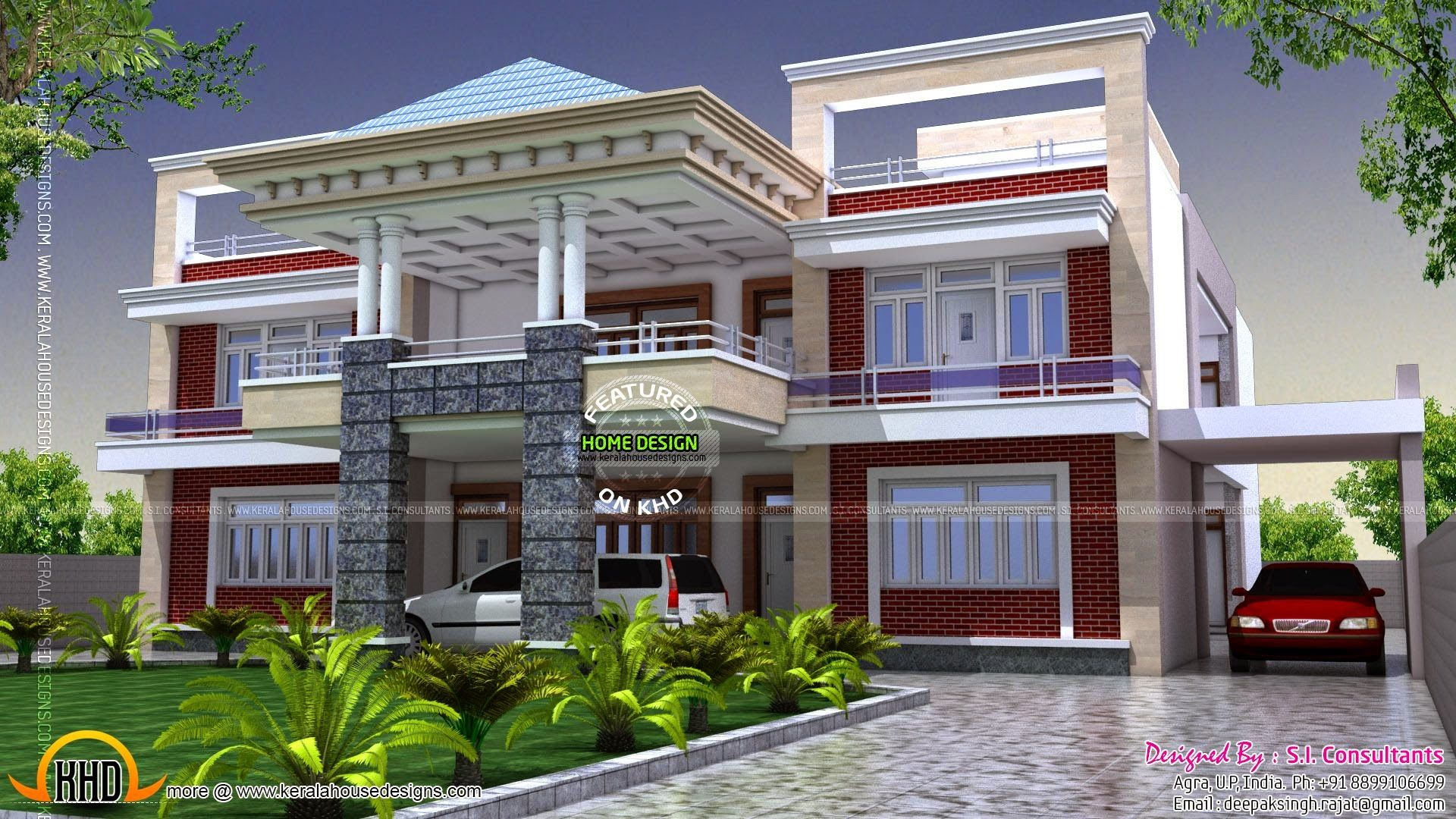 North Indian Luxury House Kerala House Design Simple House Design Modern Bungalow Exterior