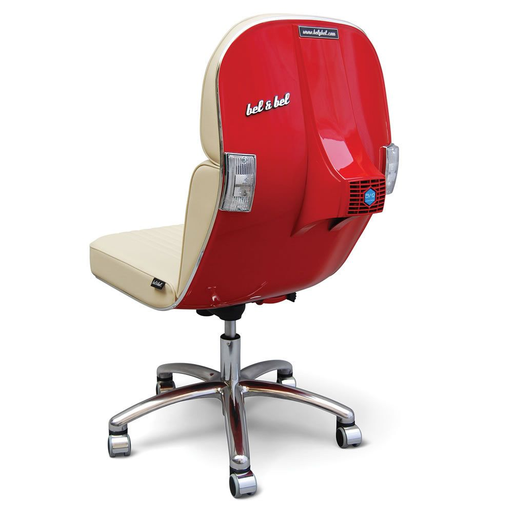 recycled vespa office chairs. And For The High Roller: An Office Chair Made Out Of Recycled Chassis A Vespa. Vespa Chairs C