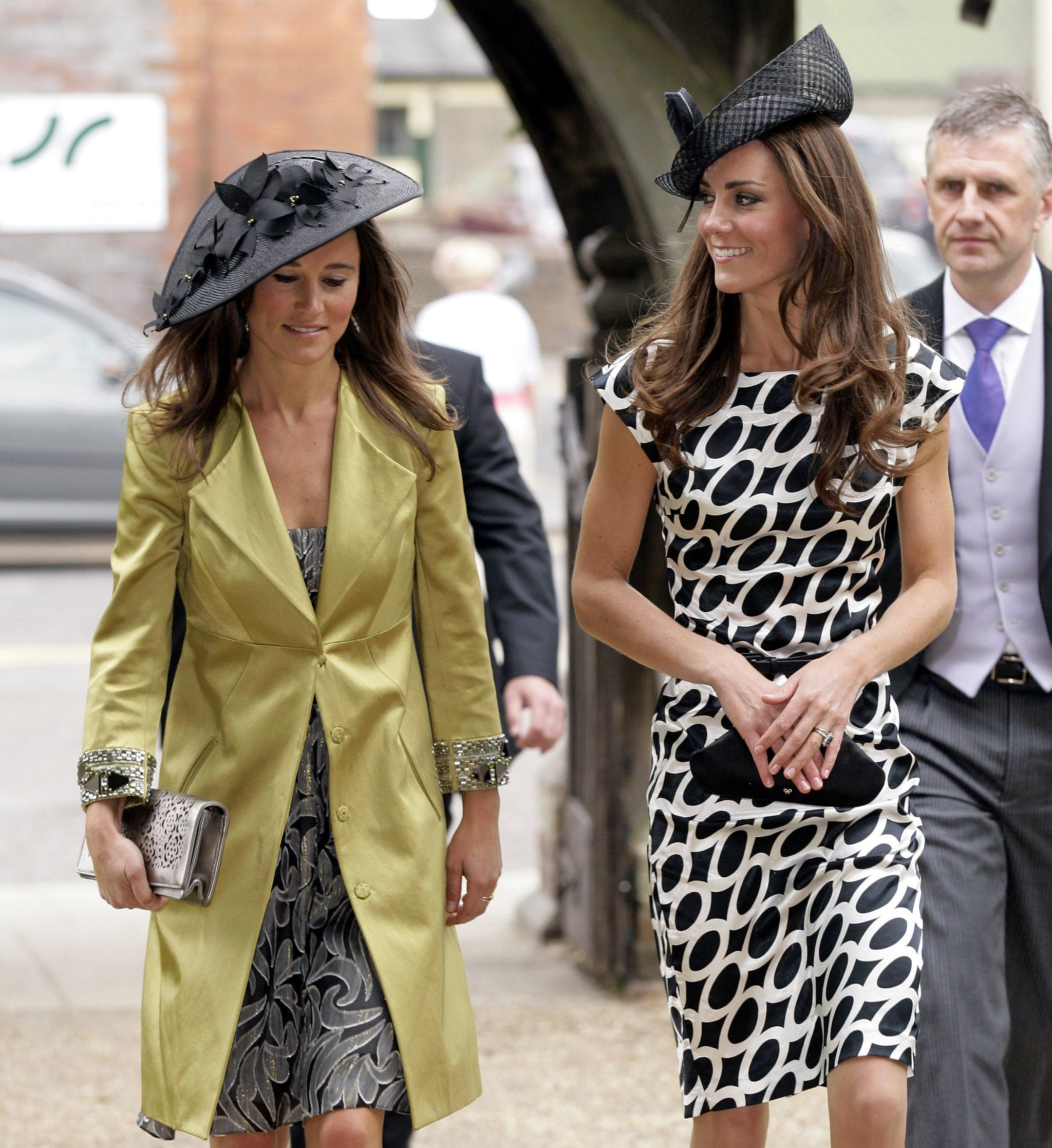 Not long after Kate's own wedding, she and Pippa attended the ceremony for Sam Waley-Cohen and Annabel Ball...
