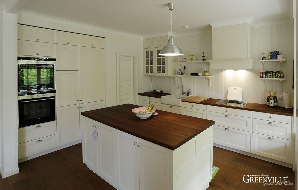 Weisse Küche Greenville Architektur Haus küchen