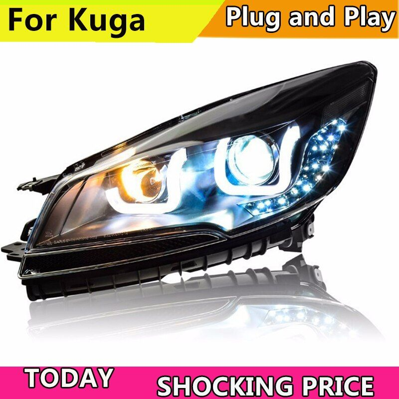 Doxa Car Styling For Ford Kuga Escape Headlights 2013 2016 For