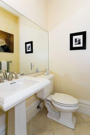Traditional Powder Room With Pedestal Sink Kohler Memoirs