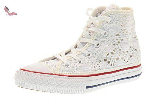 CONVERSE bébé baskets haute 356872C CTAS HI BLANC taille 28 Blanc - Chaussures  converse (*