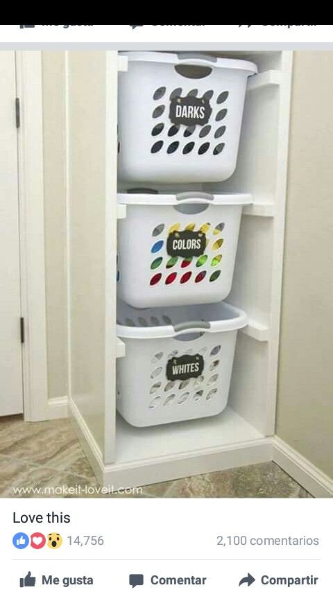 Vertical Laundry Sorter To Maximize Use Of Vertical Space While