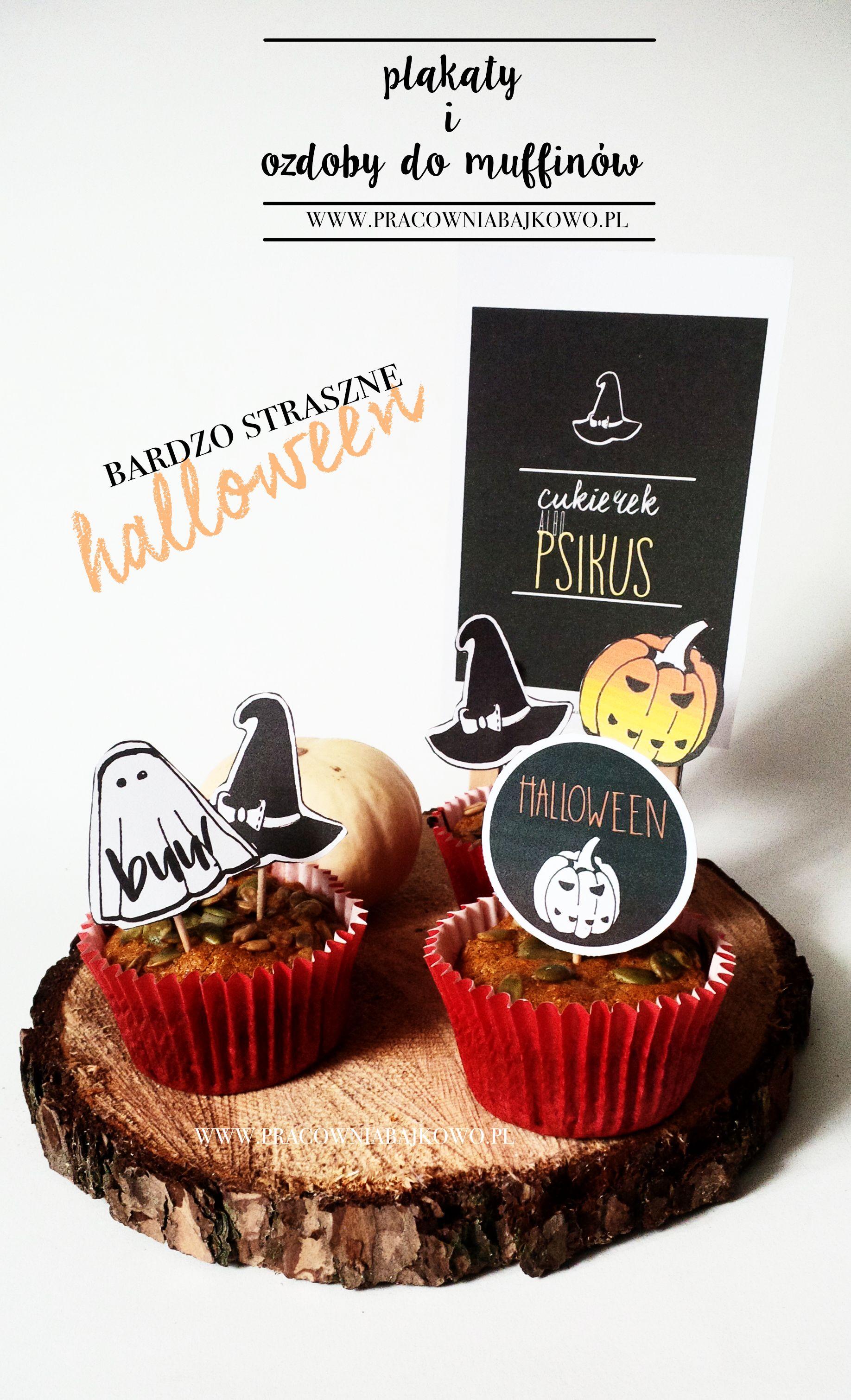 ozdoby do wydrukowania, ozdoby do muffinów, halloween