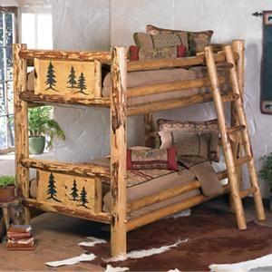 Rocky Mountain Log Bunk Bed Log Bunk Beds Rustic Bedroom