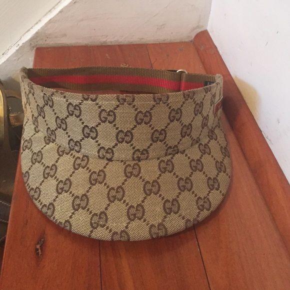 AUTHENTIC GUCCI VISOR Tan AUTHENTIC Gucci Visor Gucci Accessories ... 831cdbda48e