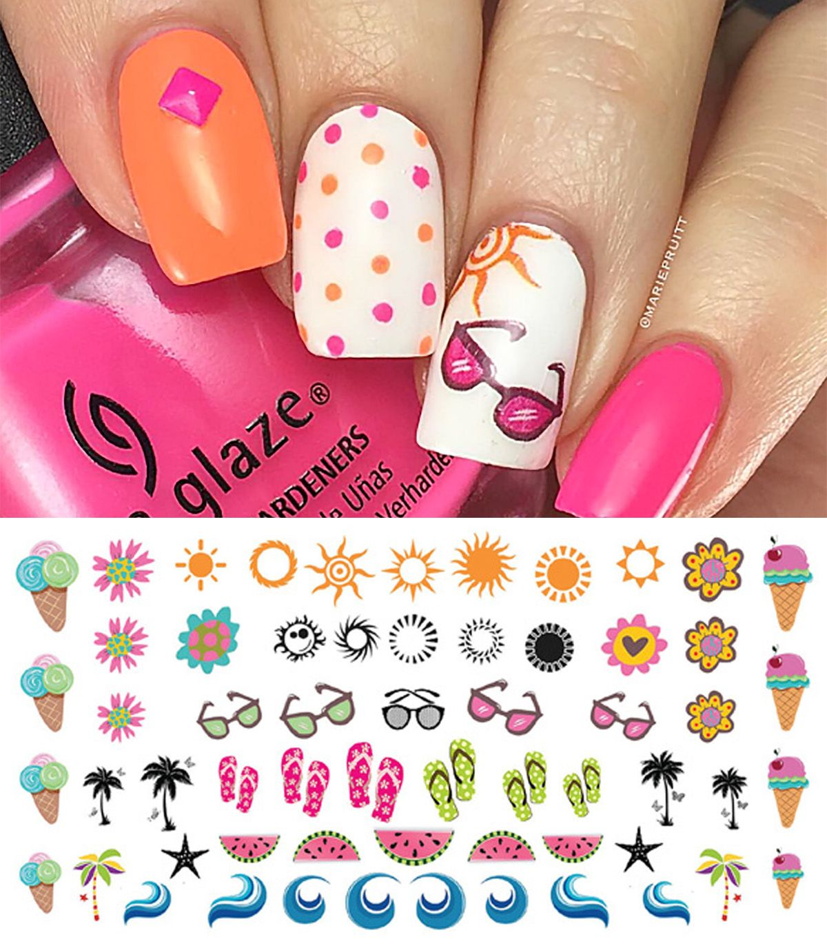 Pin by Moon Sugar Decals on Summer Nail Art Decals   Pinterest ...