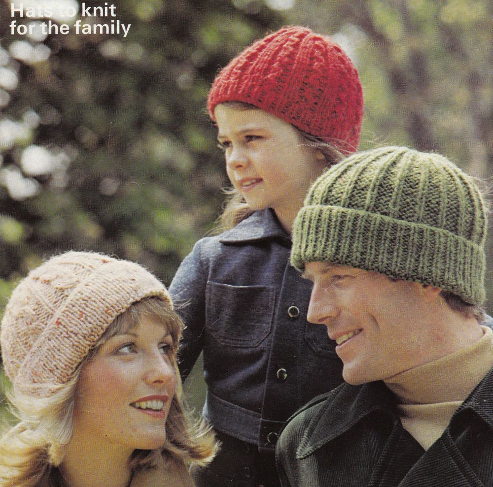 Mens gloves knitting pattern - Vintage Knitting Pattern Instructions To Make 3 Ladies Mens Childs Hats
