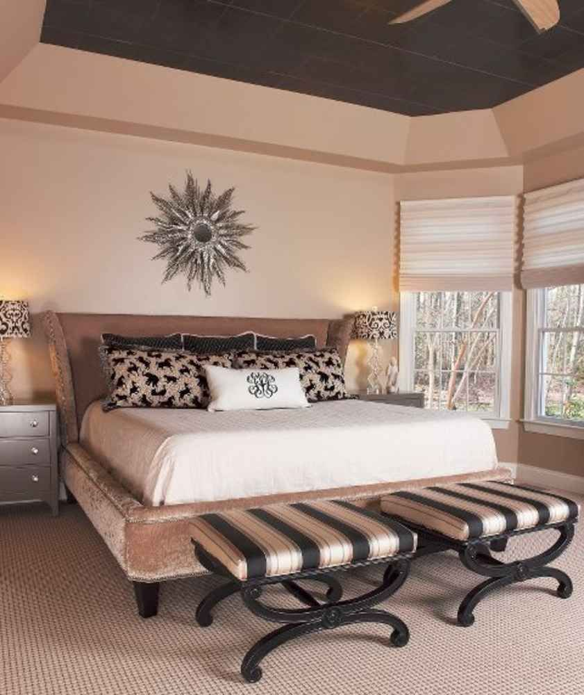 Residential design featuring master bedroom in gold and ... on Model Bedroom Interior Design  id=50968