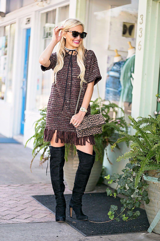 c3203e7cf746c4 vandi-fair-blog-lauren-vandiver-dallas-texas-southern-fashion-blogger -astr-margo-fringe-shift-hem-dress-wine-over-the-knee-black-boots-2