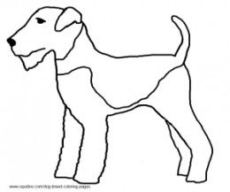 dog breed coloring pages hobbies crafts pinterest coloring  airedale terrier coloring page