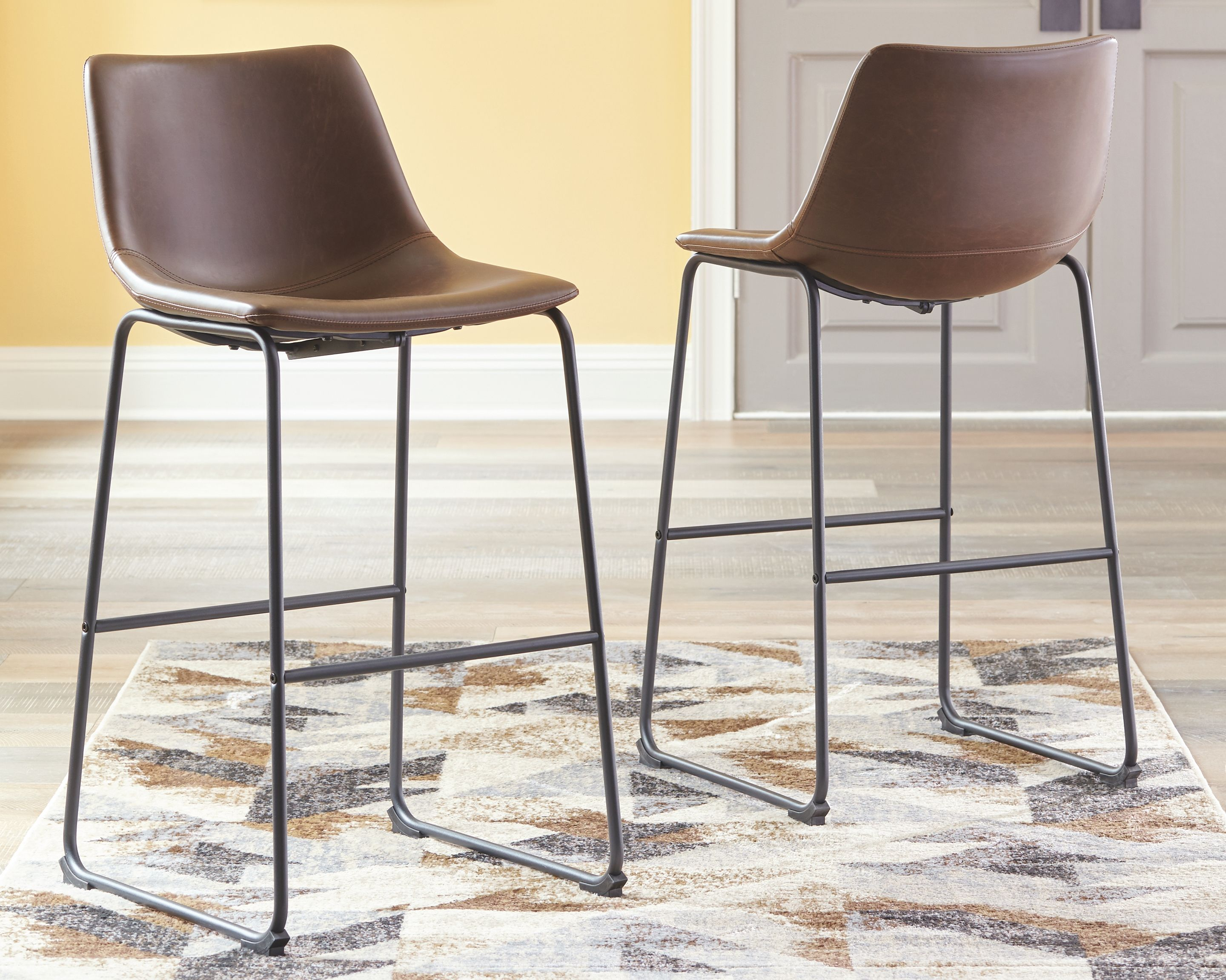 Centiar Counter Height Bar Stool Ashley Furniture Homestore In 2021 Upholstered Bar Stools Counter Height Bar Stools Modern Bar Stools