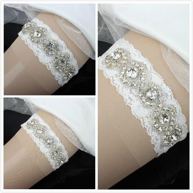 Blue Wedding Garter Uk: Blue Garter Uk 2015 Lace Rhinestones Bridal Garters Ribbon