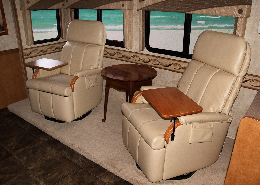 Lambright Lazy Relaxor Wall Hugger Recliners With Tables Rv