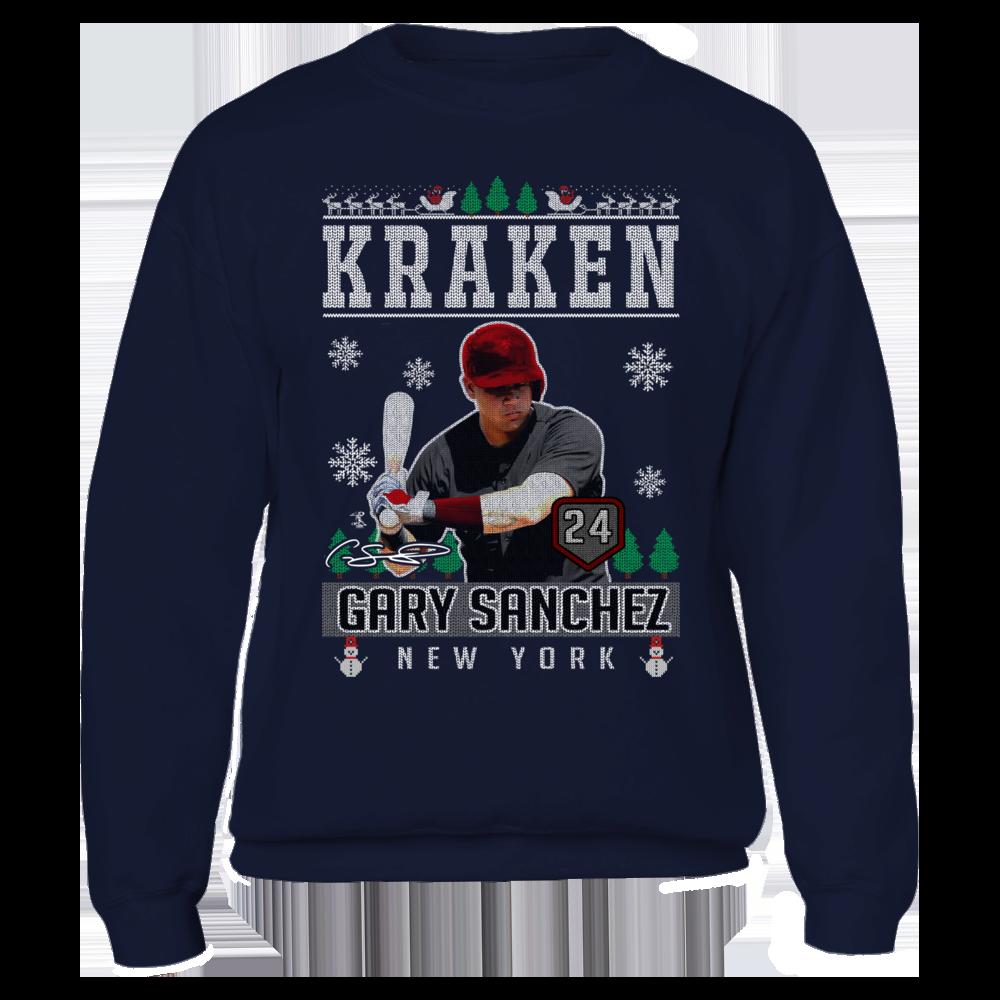 on sale 495d7 6e38e Gary Sanchez - Kraken - CHRISTMAS PLAYER | Licensed T-shirts ...