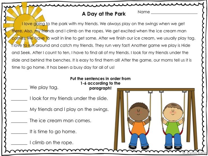 Sequential Order Activities for First and Second Graders | Events ...