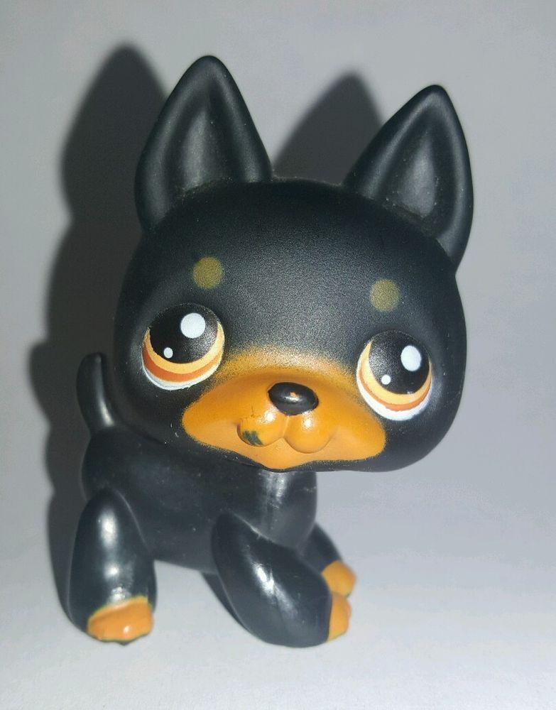 Littlest Pet Shop Dog Brown Black German Shepherd #92 ...
