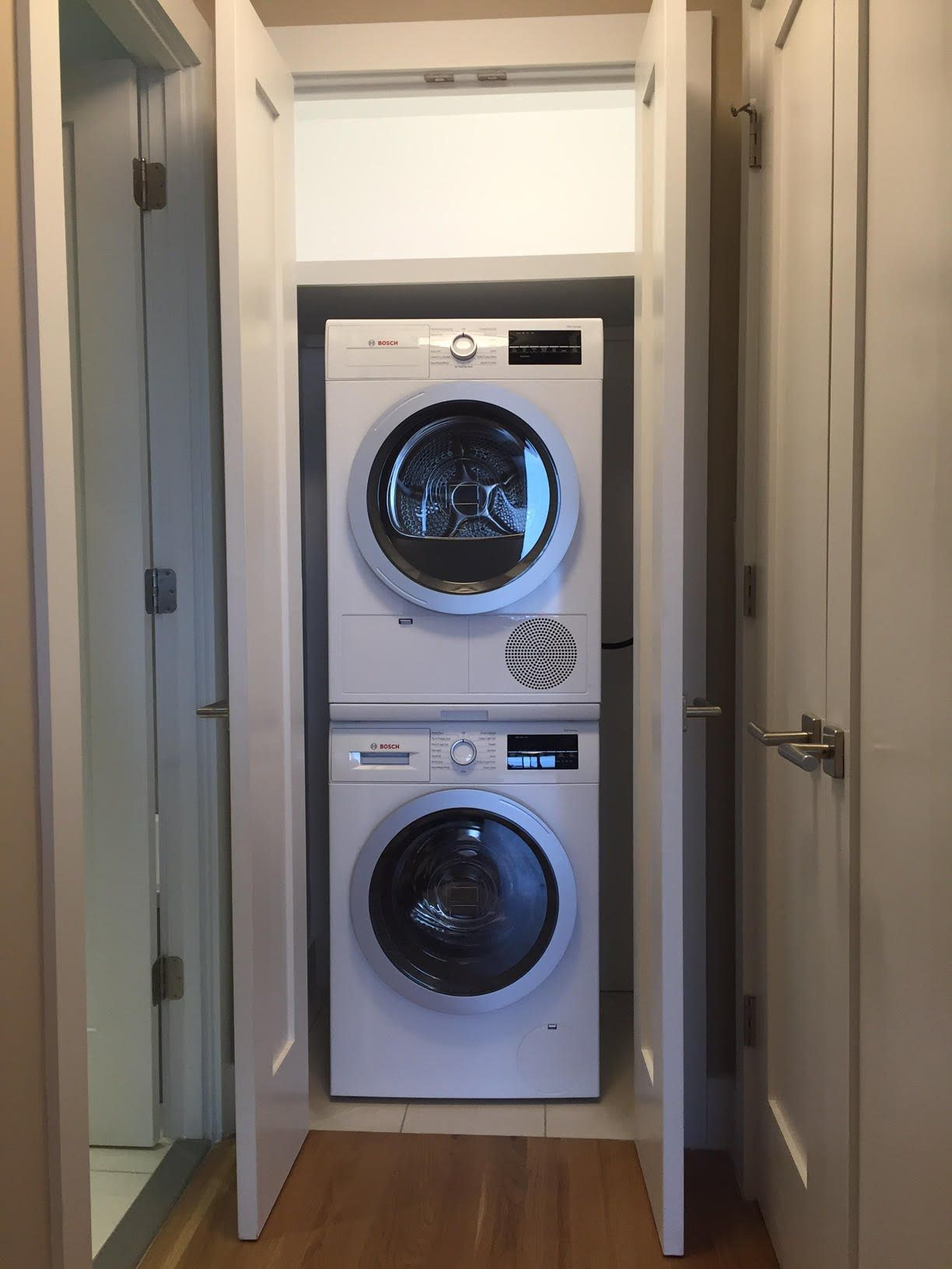 How To Fit A Washer And Dryer Into The Smallest Of Spaces Laundry Room Remodel Small Laundry Rooms Perfect Laundry Room