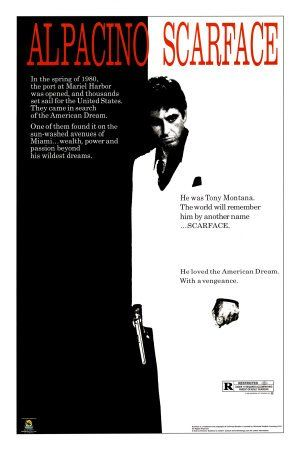 Scarface movie al pacino black and white poster print 24x36 collections poster