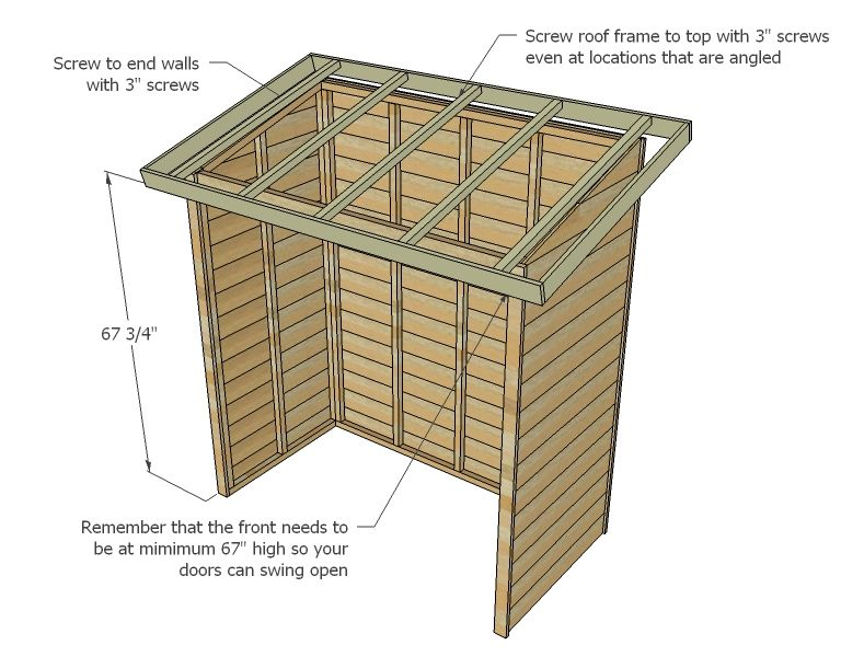 Ana White | Build A Small Cedar Fence Picket Storage Shed | Free And Easy  DIY