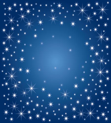 خلفية زرقاء مع نجوم جميلة ورائعة ملف مفتوح Happy New Year