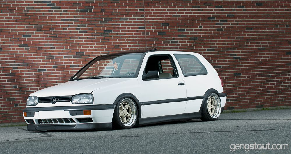 Mk3 White Gti Low Vw And Audi Awesome Pictures Vw Golf