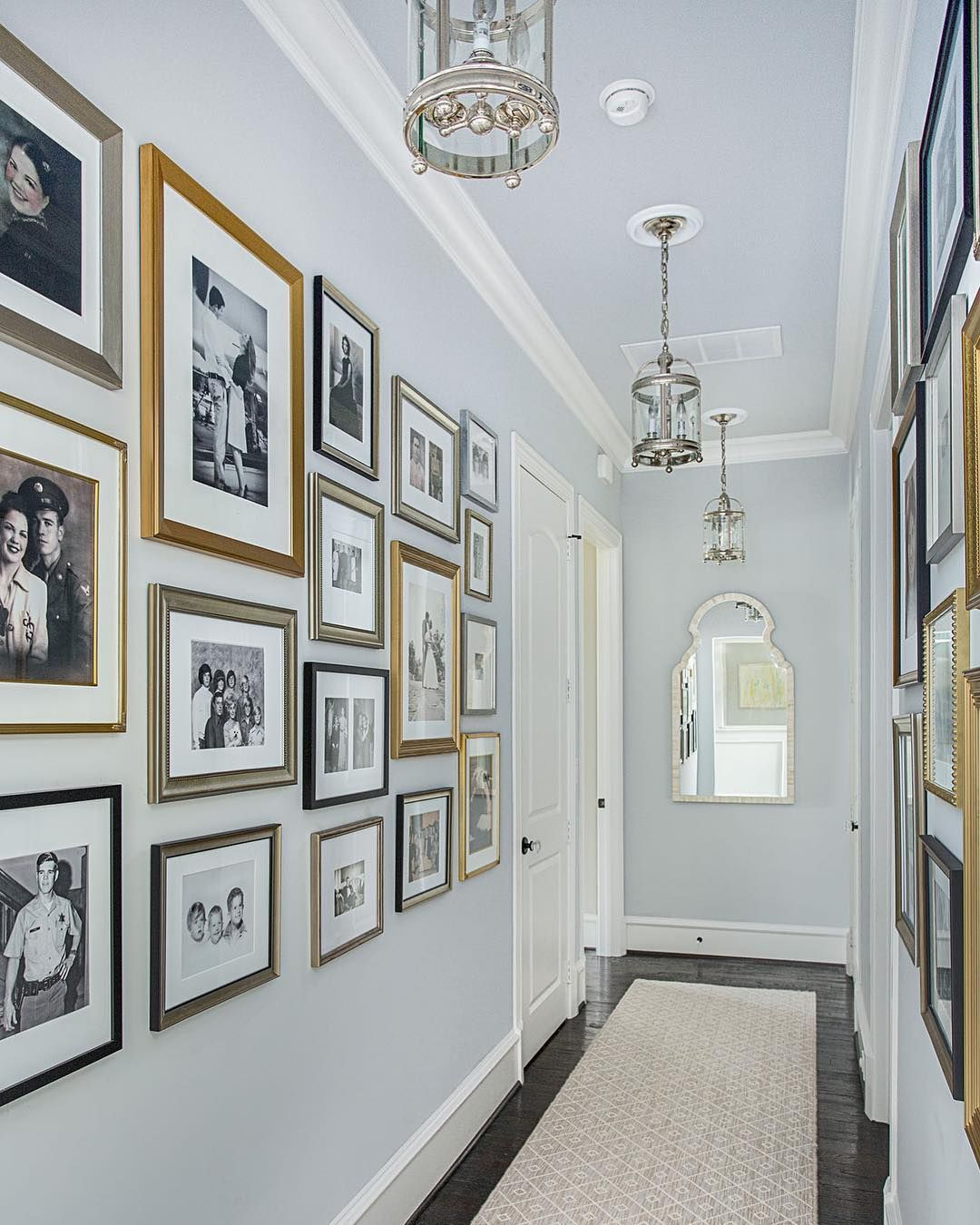 Emily Johnston Larkin On Instagram A Gallery Wall Of Old Family Photos Is The Perfect Answer To A Long Gallery Wall Frames Family Gallery Wall Frames On Wall