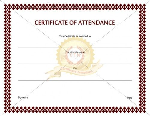 Looking for a printable certificate of attendance for any reason may