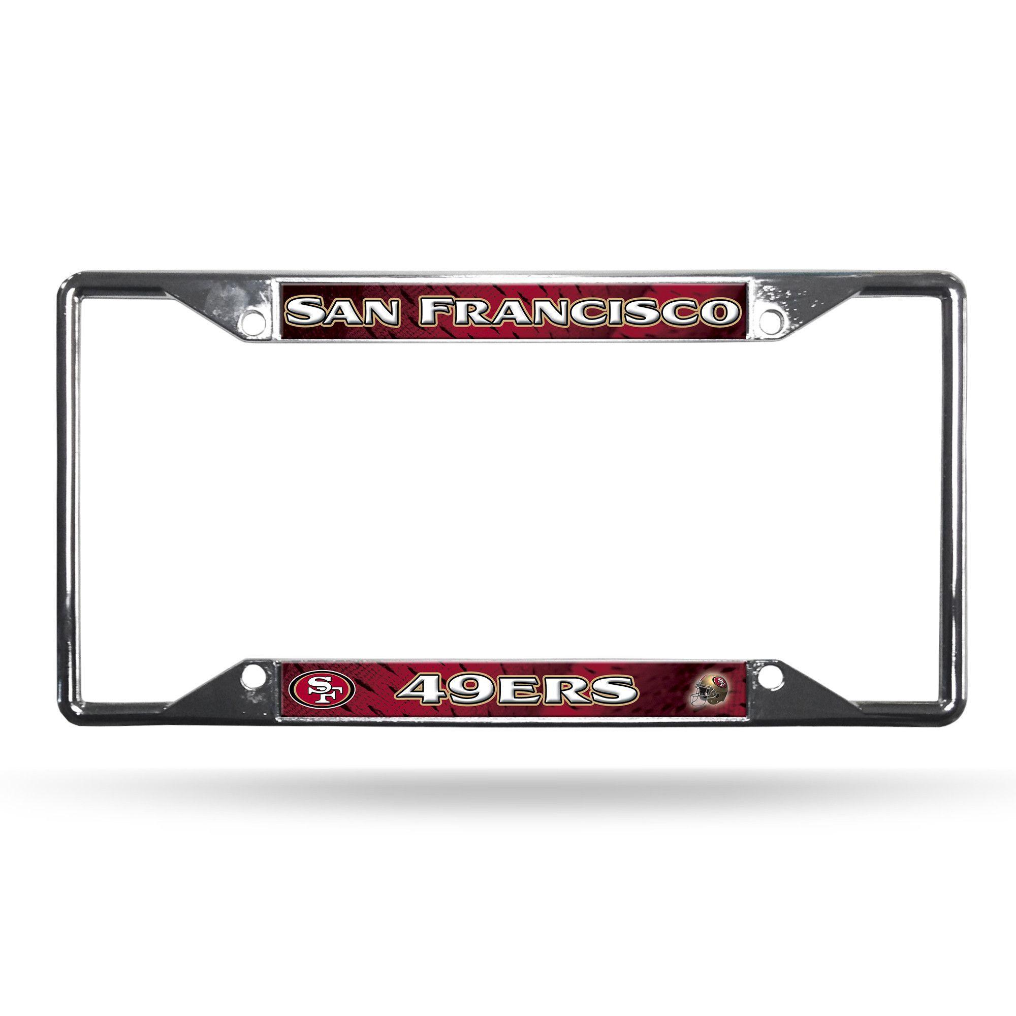 San Francisco 49ers Chrome Easy View License Plate Frame | License ...