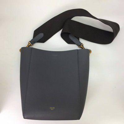 c67face74c53 Cheap Celine Small seau Sangle bag in liquorice soft grained calfskin Celine  Handbags