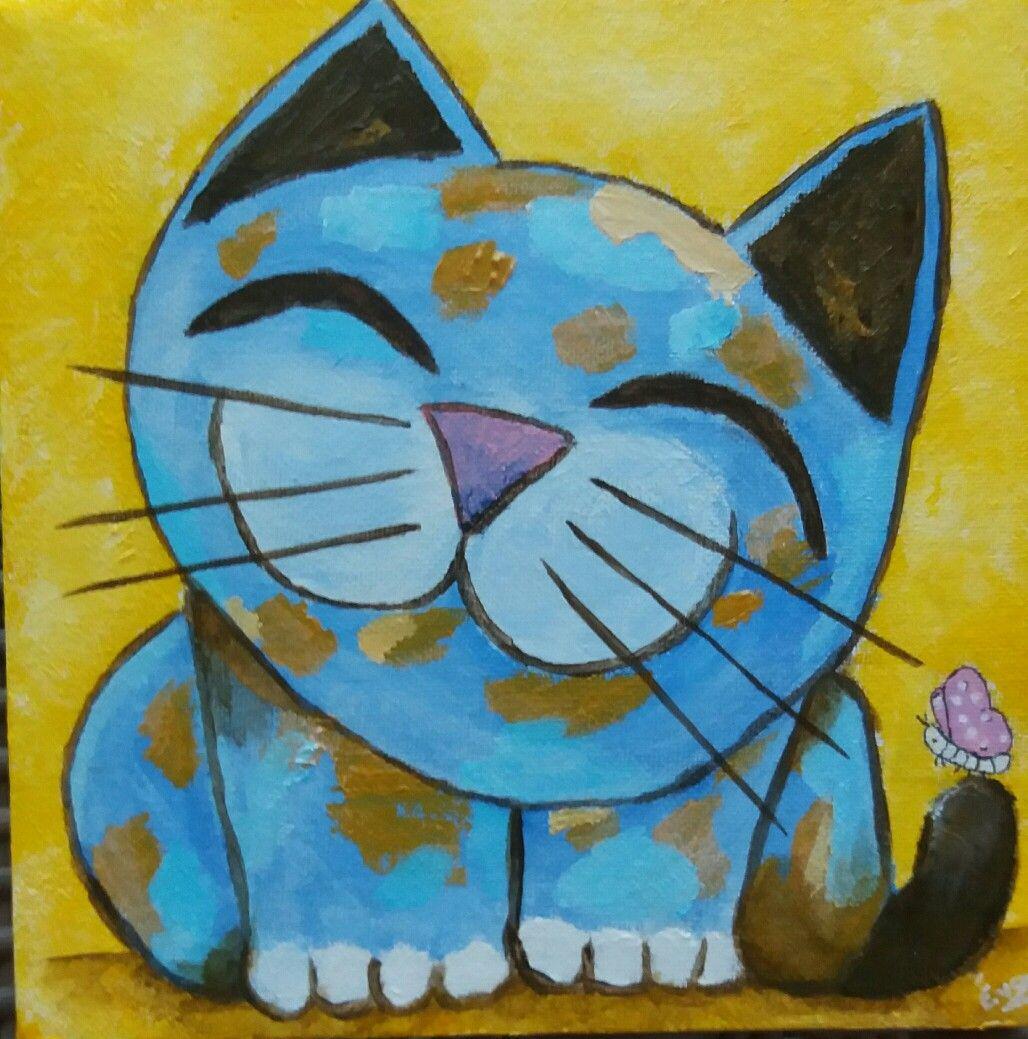 нужна урок рисования акрилом коты вырастить