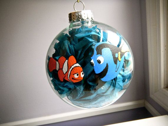 finding nemo inspired christmas ornament disney pixar dory and marlin - Finding Nemo Christmas Decorations