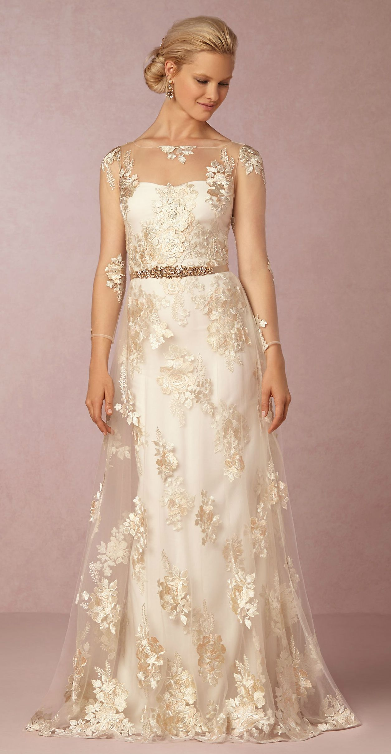 Long sleeve dresses to wear to a wedding  New Wedding Dresses from BHLDN for Fall   Stunning wedding