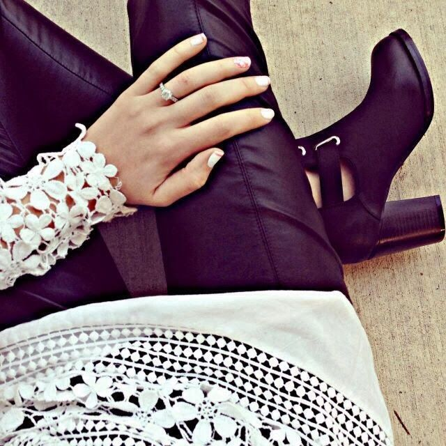 How to Chic: LEATHER AND CROCHET