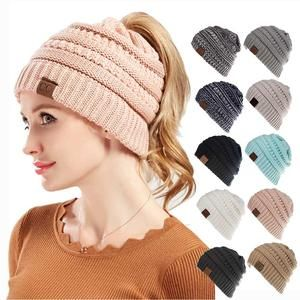 9ab60425a85 Crochet Winter Hat Ponytail Beanie in different colors. Use code   MOST-GLOBAL15 15