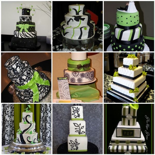 Green And Black Wedding Cakes
