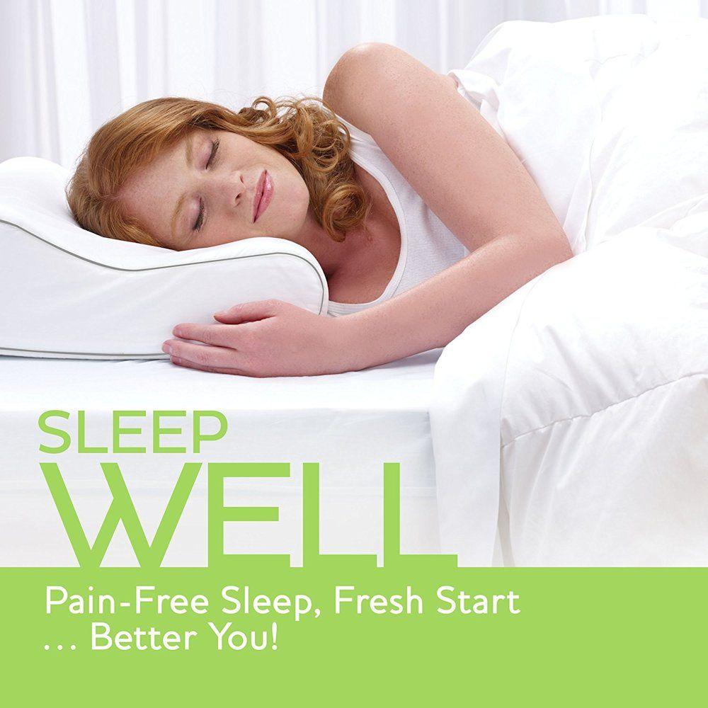 Memory Foam Contour Pillow Gentle Ergonomic Support Contour Pillow Best Pillow Memory Foam Pillow