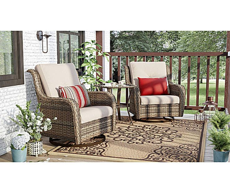 Wilson Fisher Oakmont Small Space Porch Gliders Set Big Lots