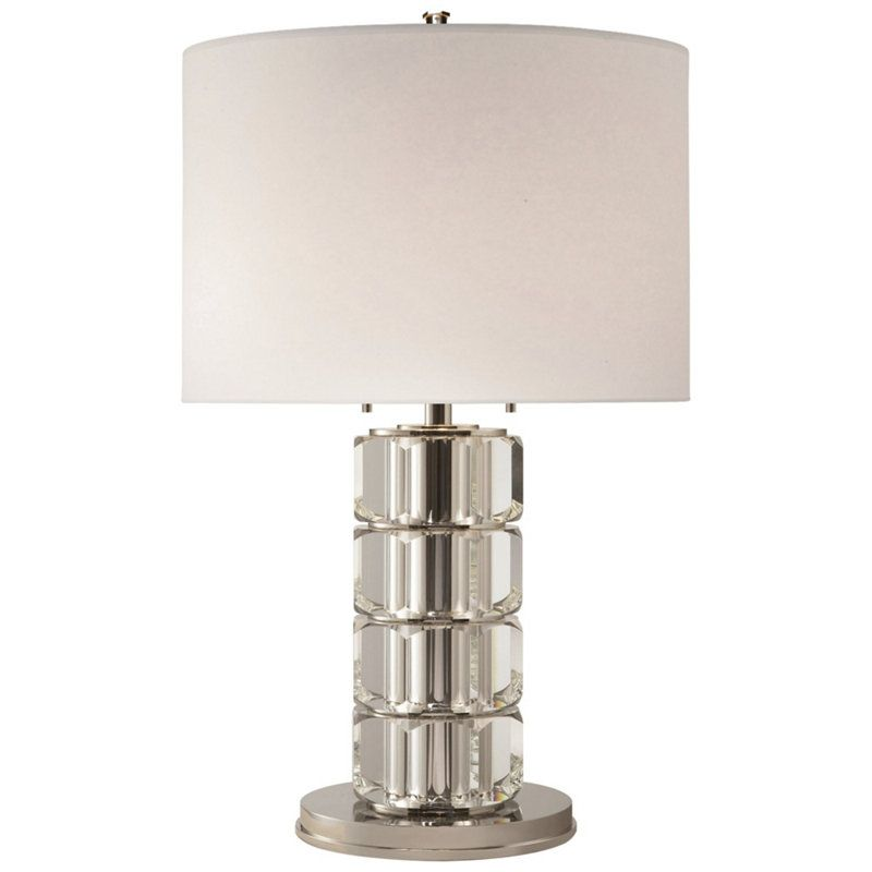 Brookings Large Table Lamp in Crystal and Polished Nickel - Table ...