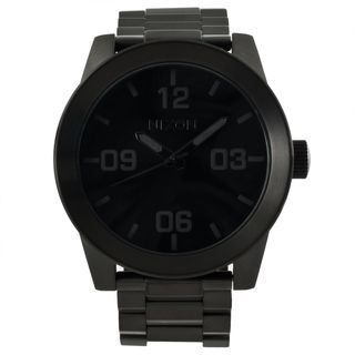 nixon men s corporal ss black stainless steel analog watch by nixon men s corporal ss black stainless steel analog watch