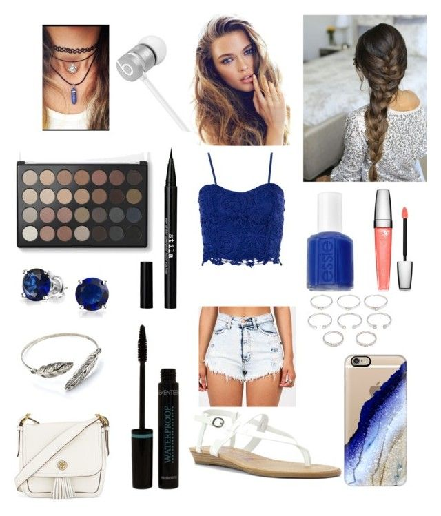 """Random #21"" by charlieisosm on Polyvore featuring Dorothy Perkins, Blowfish, Tory Burch, Casetify, Beats by Dr. Dre, Forever 21, Bling Jewelry, Stila, Essie and Lancôme"