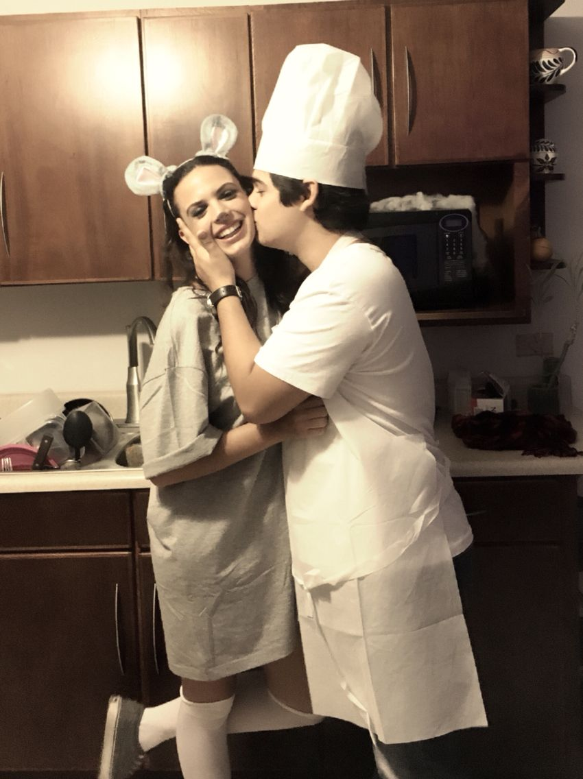 Ratatouille Couple Costume Mouse Chef Couples Costumes Couple Halloween Costumes Diy Halloween Costumes