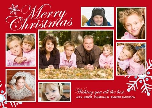 Christmas Photo Collage Template Christmas Card Collage Template