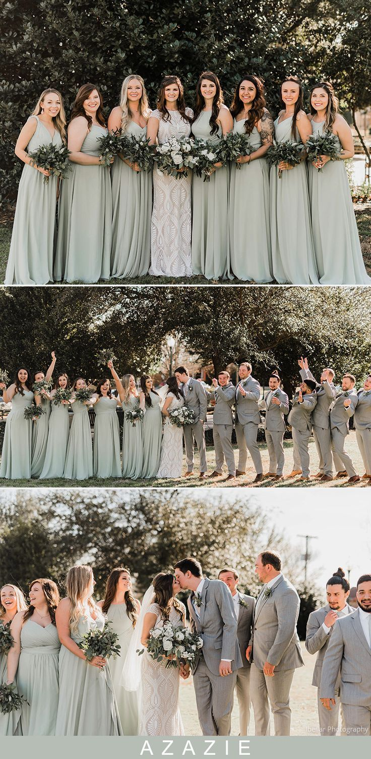Dusty Sage Bridesmaid Dresses & Dusty Sage Gowns | Azazie -   18 sage green bridesmaid dresses fall ideas
