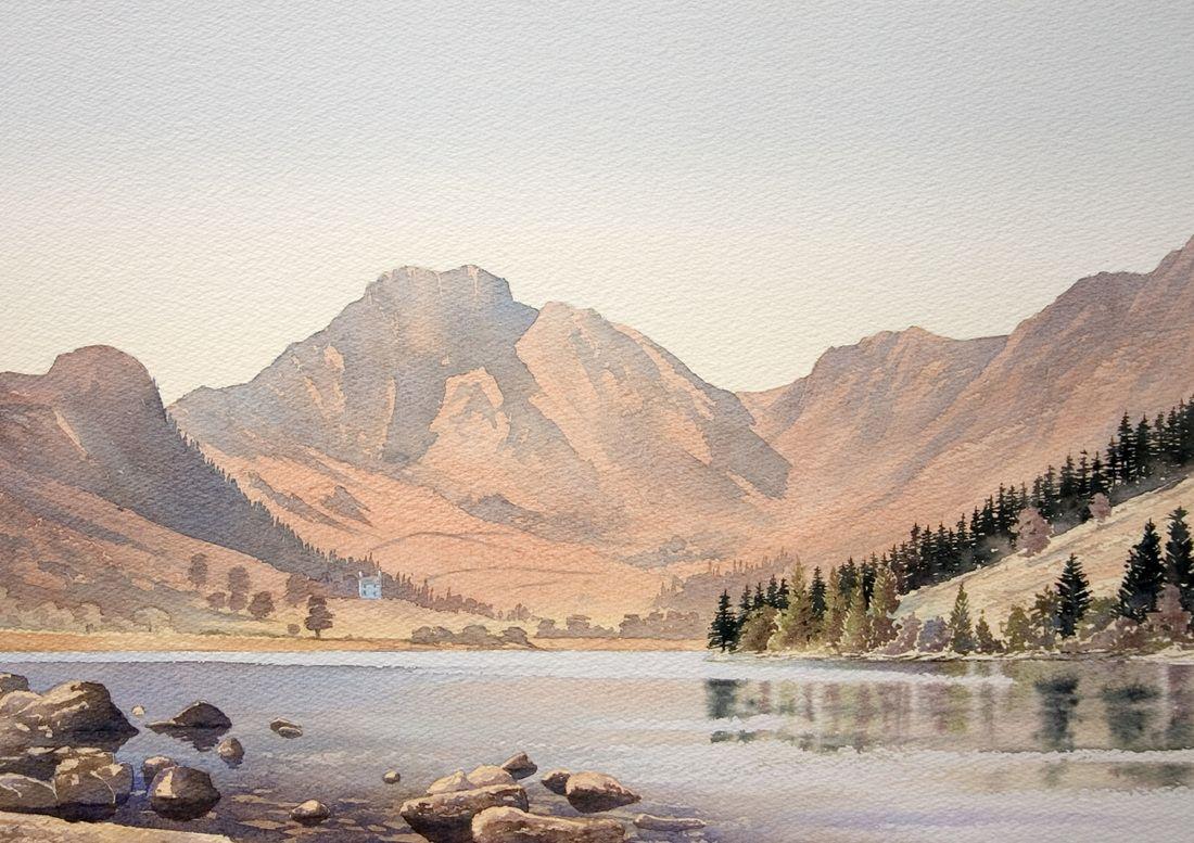 Gallery Landscape Watercolour Paintings Of Snowdonia The Lake District And Scotland Chris Hull Dibujos Acuarela Montanas