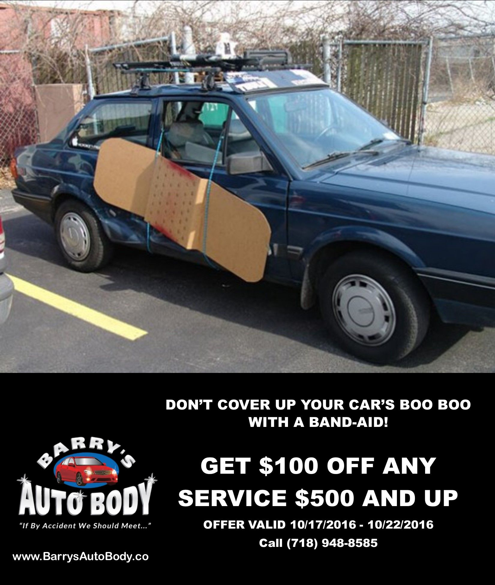 This week only! Receive $100 off any service $500 and up! (Just ...