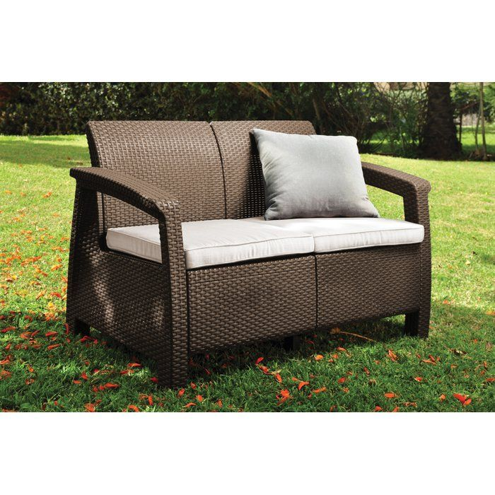 Outstanding Berard Patio Loveseat With Cushions Backyard Patio Pdpeps Interior Chair Design Pdpepsorg