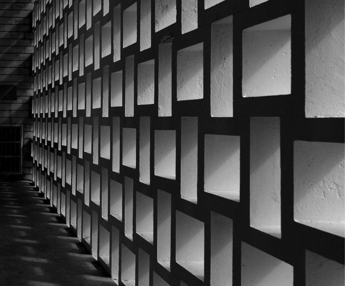 block screen | Cinder block walls, Breeze block wall ...