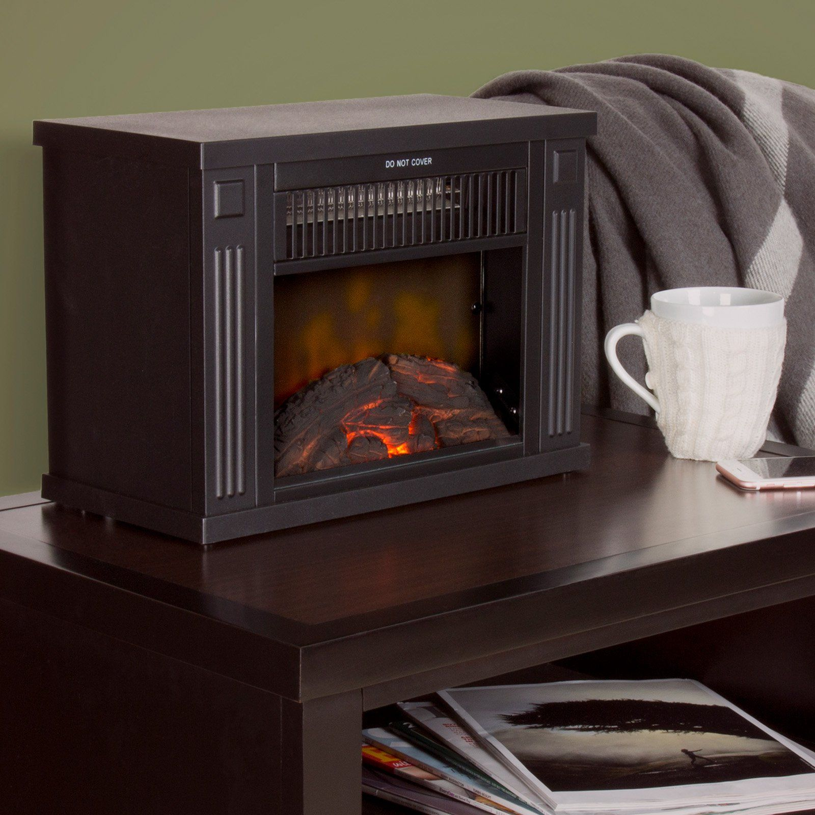 Northwest Portable Mini Electric Fireplace Heater 80 Ef480 B